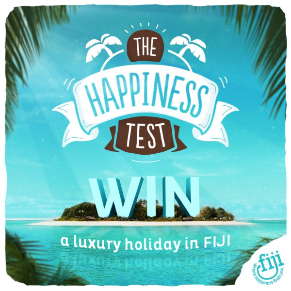 Be happy and win a trip to Fiji!