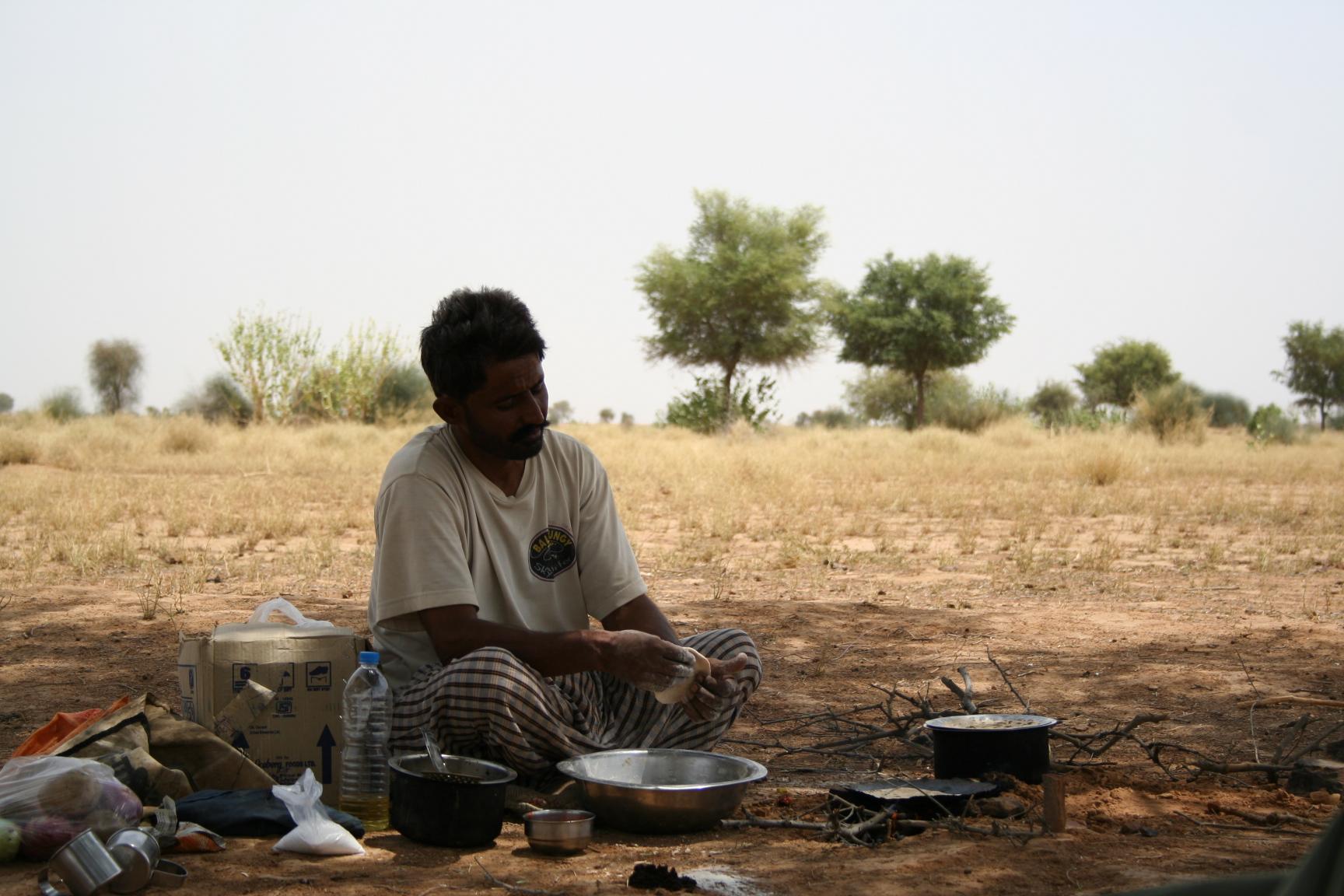 Jaisalmer - cooking in the desert
