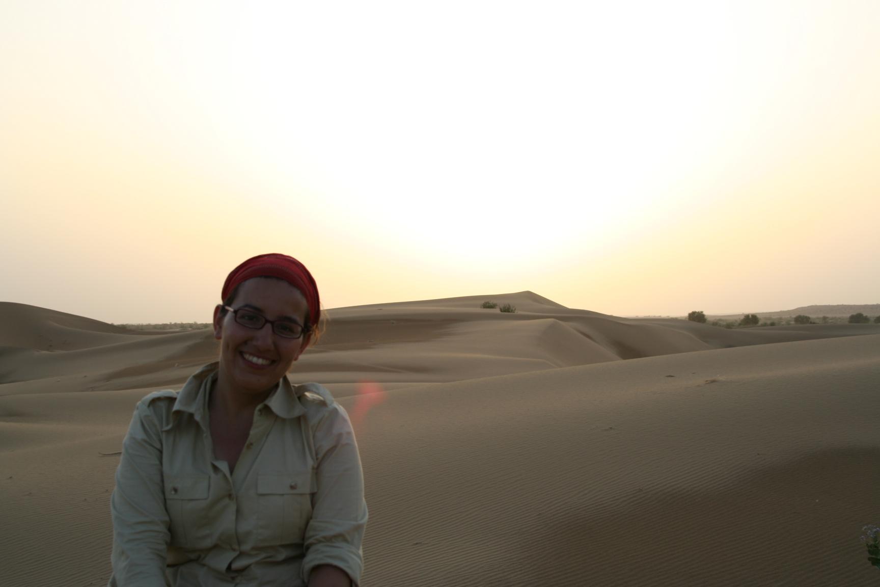 Jaisalmer - sunset in the desert