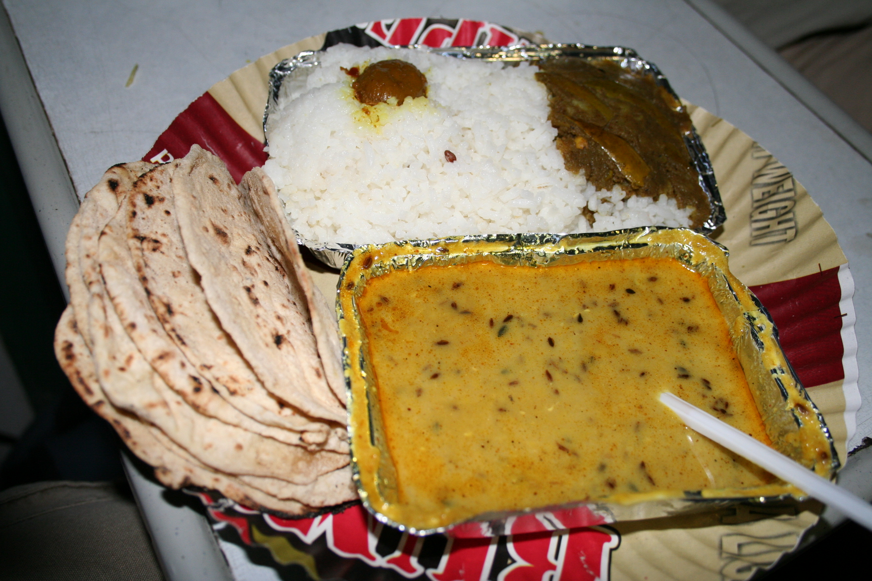 Dinner in an Indian train