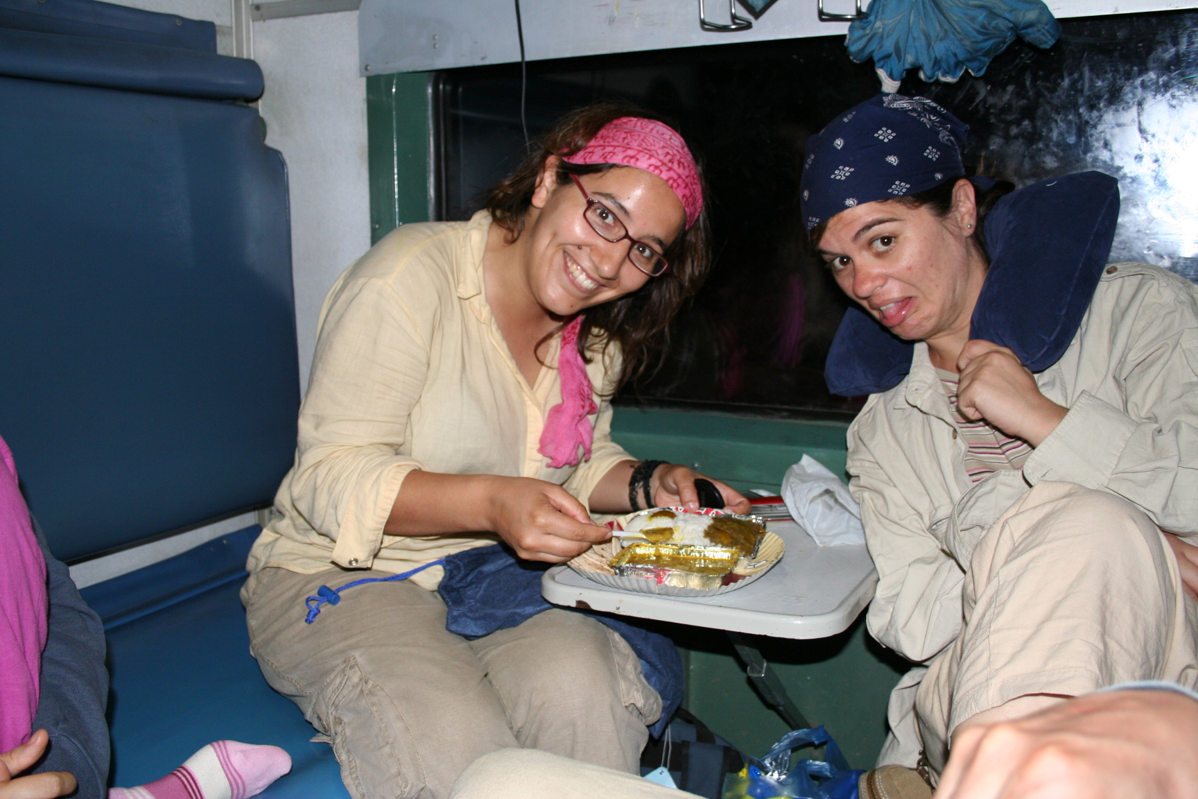 dinner in a Indian train