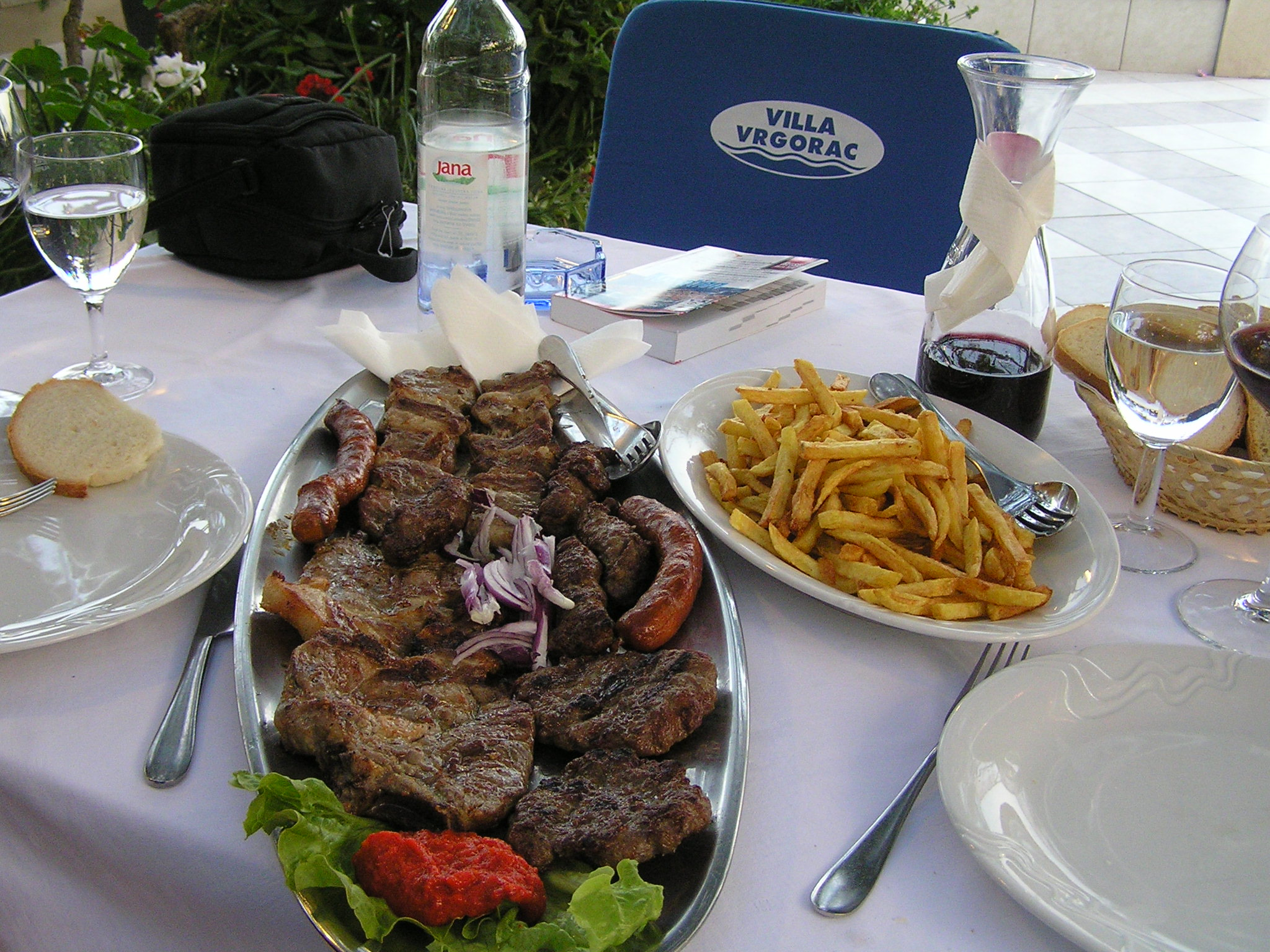 Plate for two in Croatia