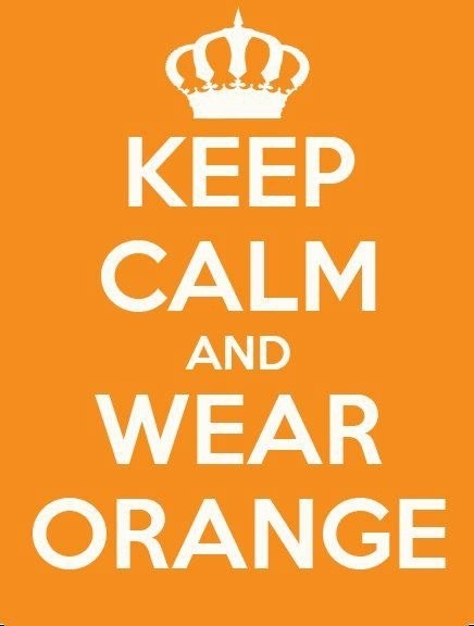 keep calm and wear orange!!