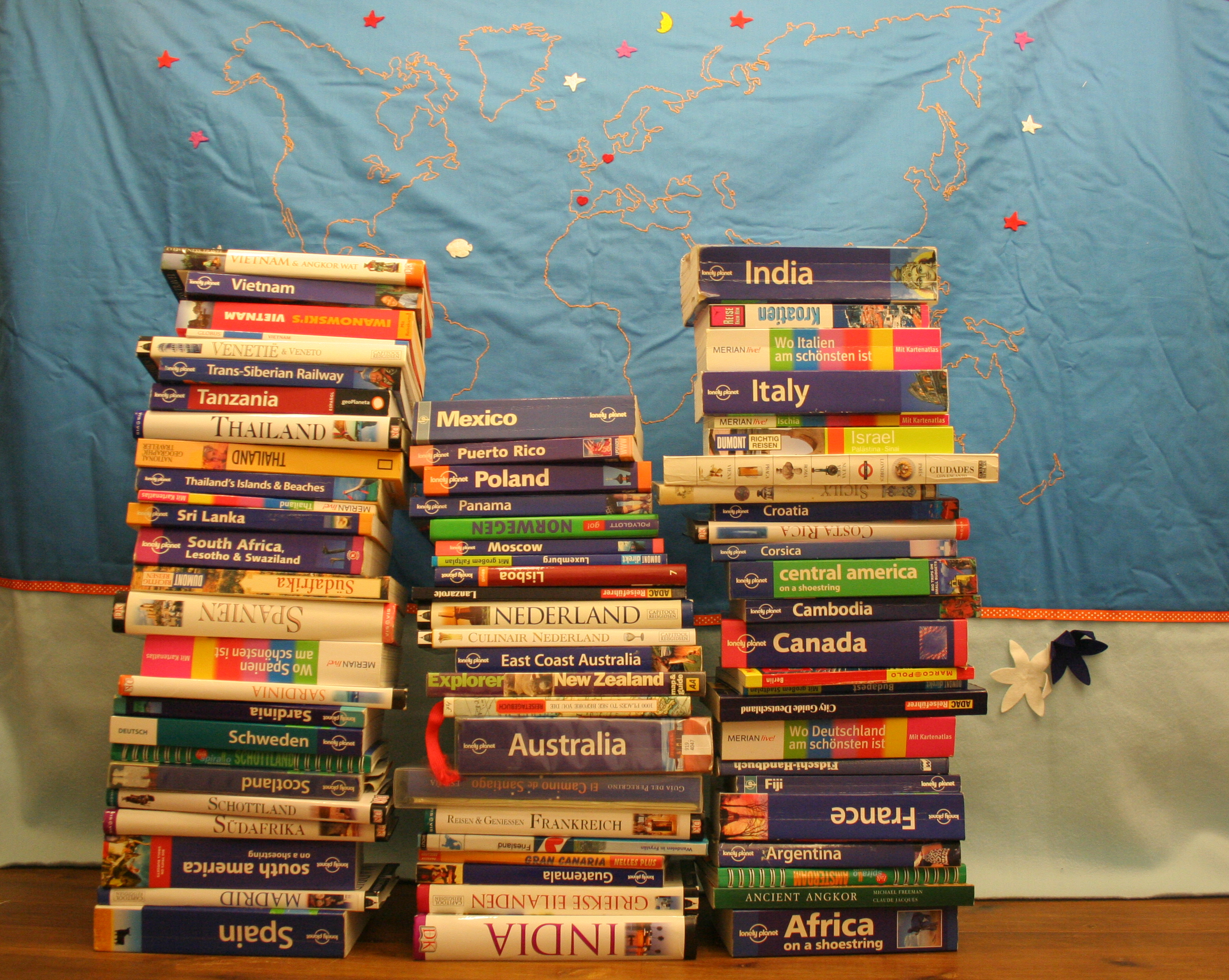 Our travel books collection