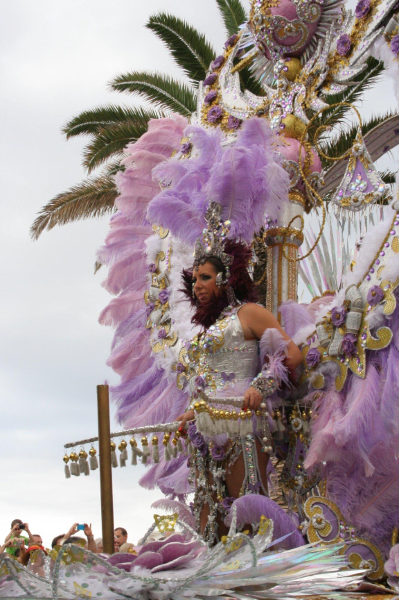 On the road: carnival parade in Puerto de la Cruz