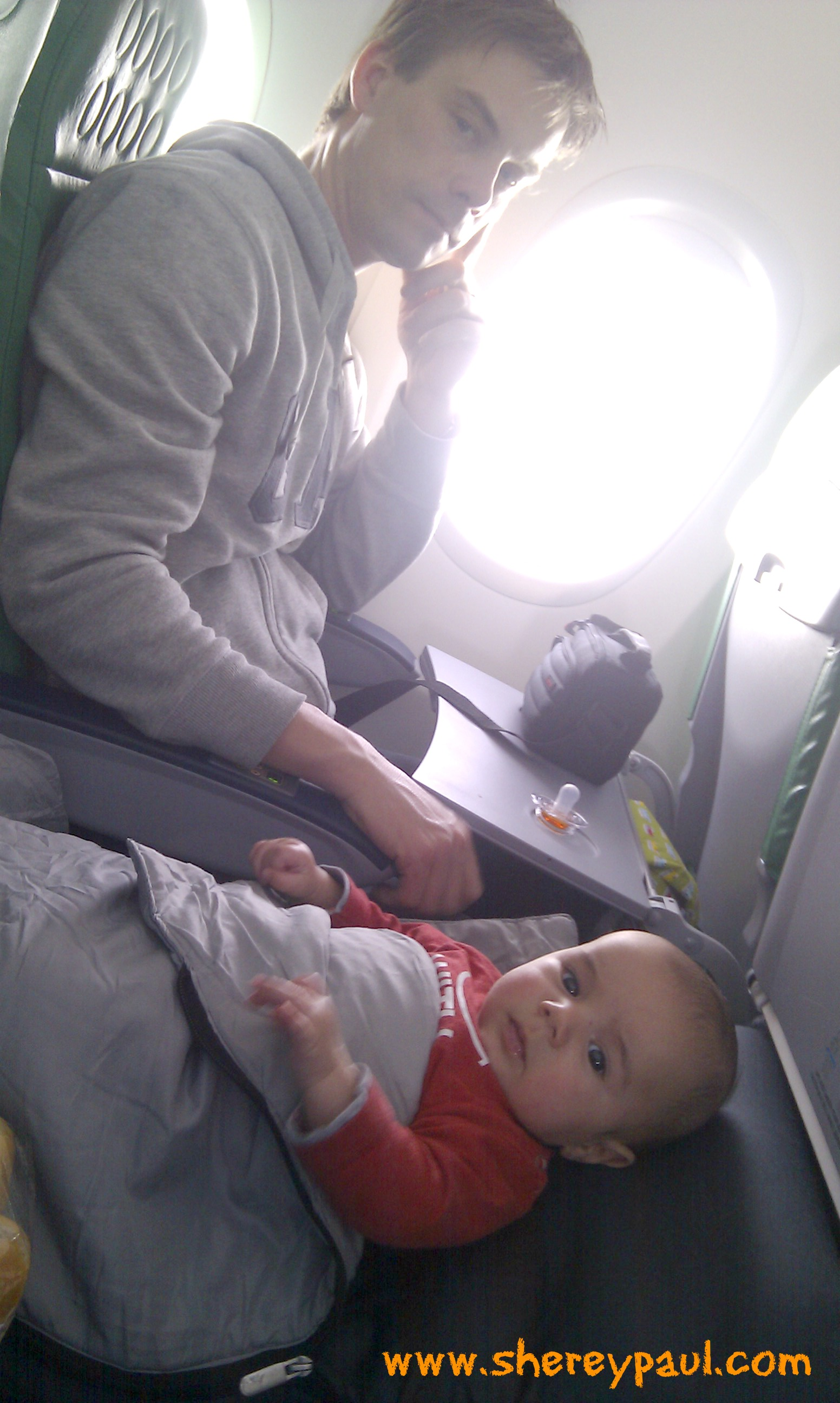 Baby bed for airplane - Our Air Bed In The Flight Amsterdam Tenerife