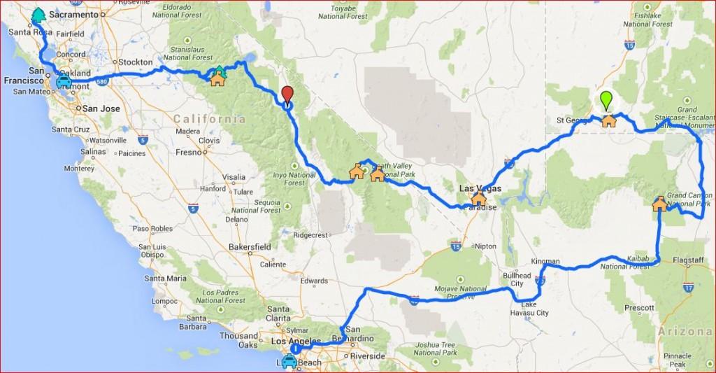 USA roadtrip itinerary