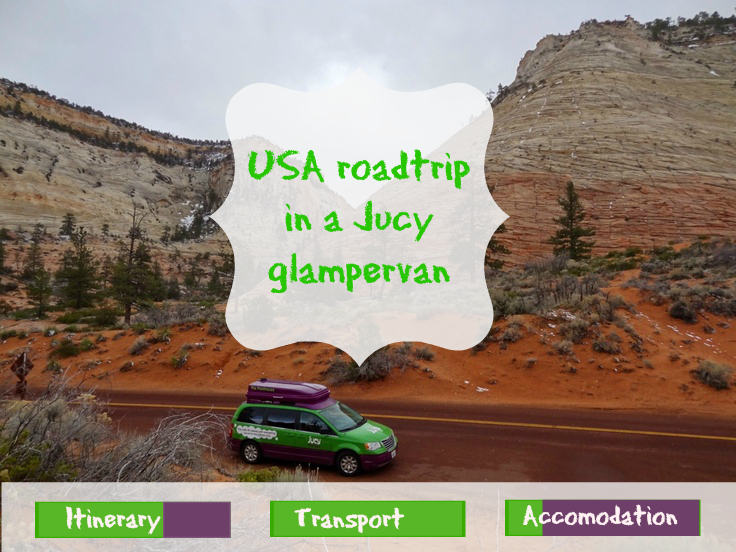 Our itinerary for our Jucy glampervan USA roadtrip
