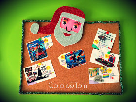 7 diciembre: Gololo y Toin: Calendario de adviento: Corcho-carta a Papá Noël