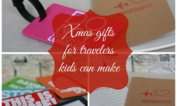 Xmas gifts for travellers kids can make