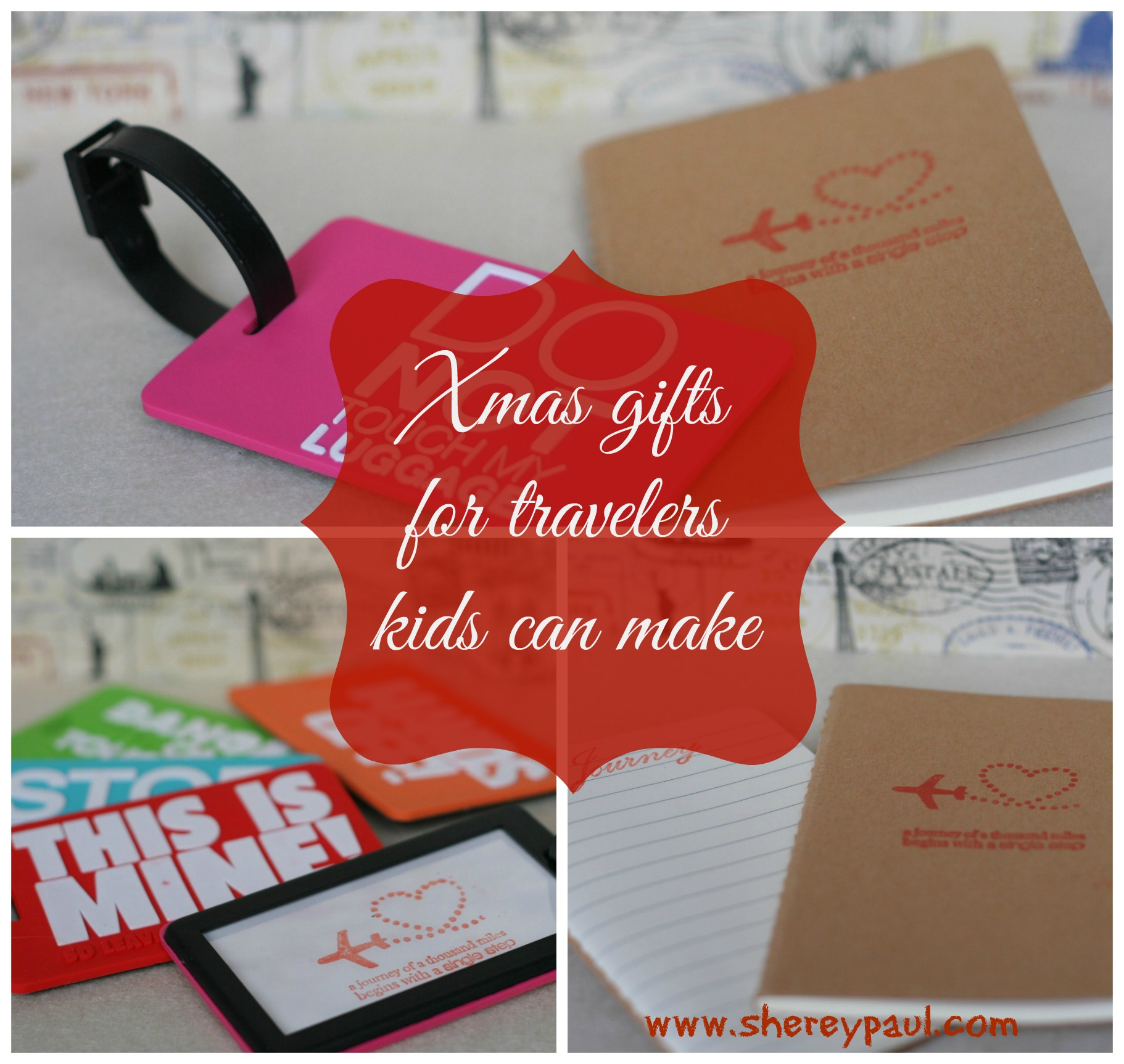 Xmas gifts for travelers kids can make