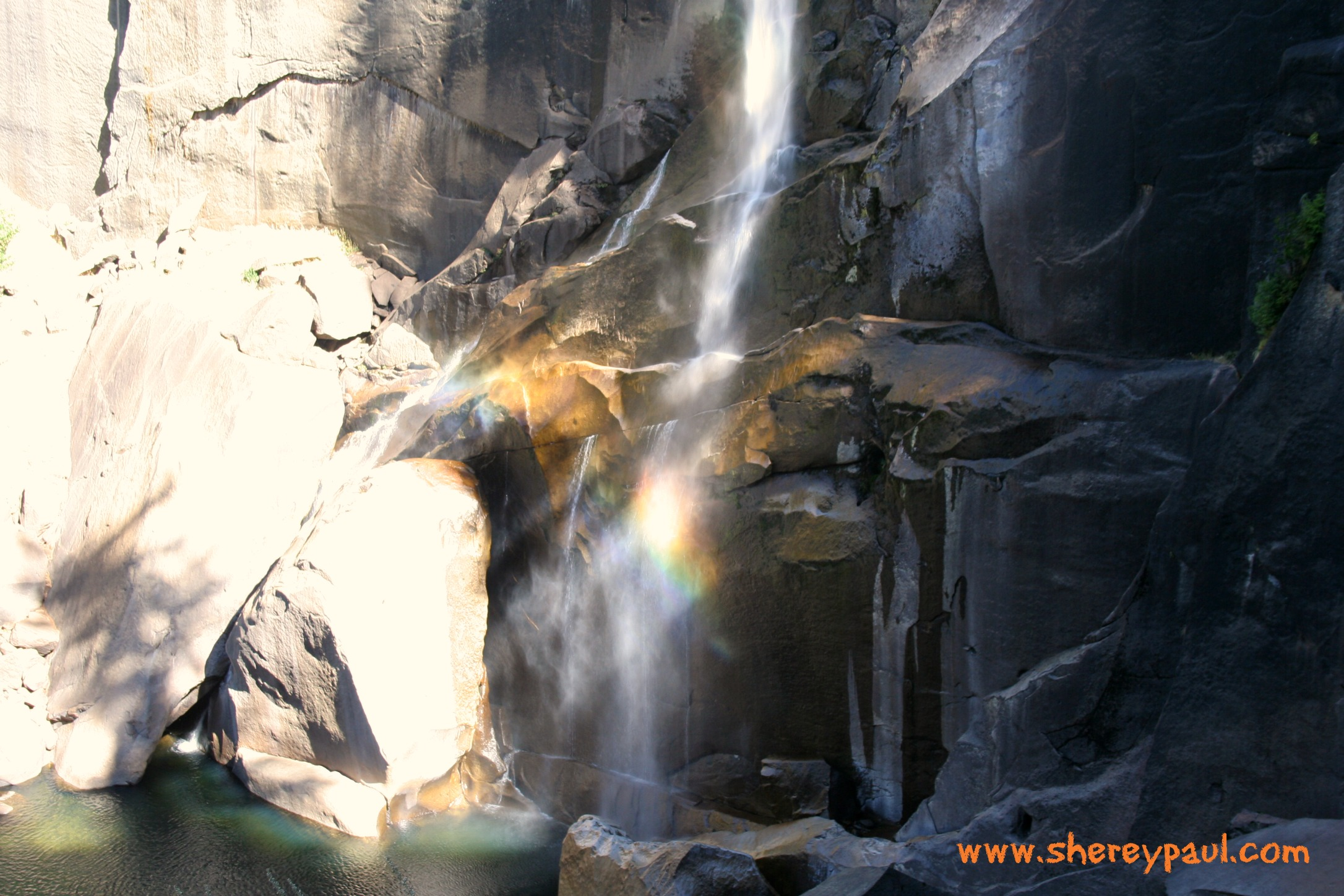 hiking with baby in yosemite np - vernal falls 2