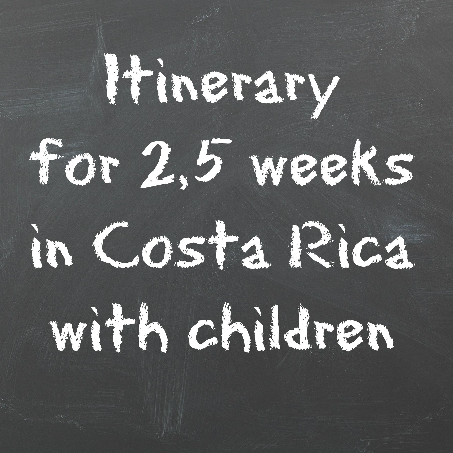 itinerary costa rica