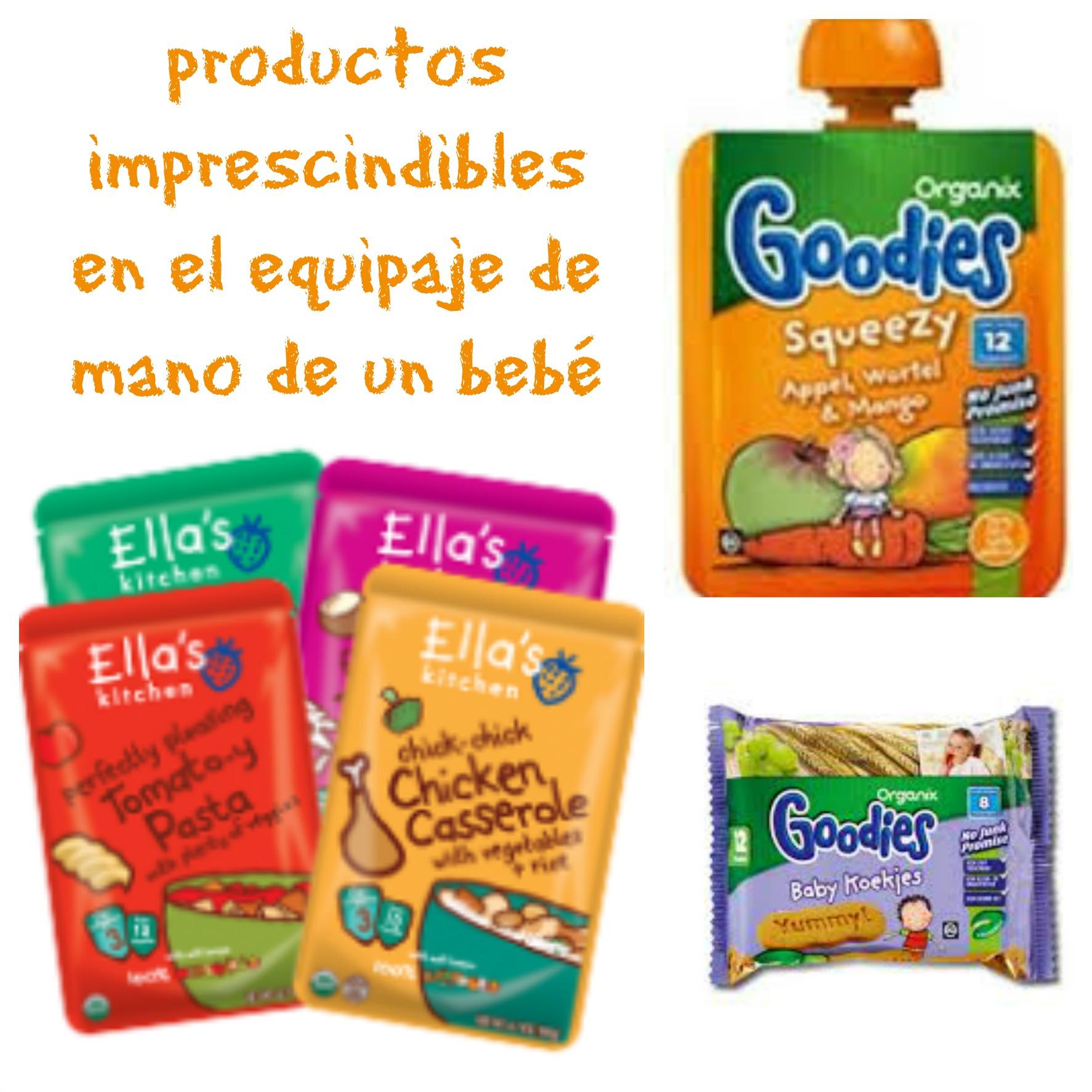 productos imprescindibles en el equipaje de mano de un bebe