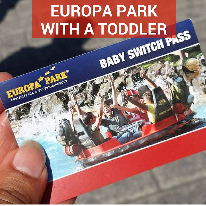 Having fun in Europa Park with a toddler