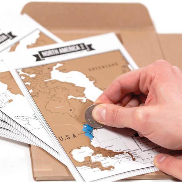Creative Travelogue Journal Scratch Map