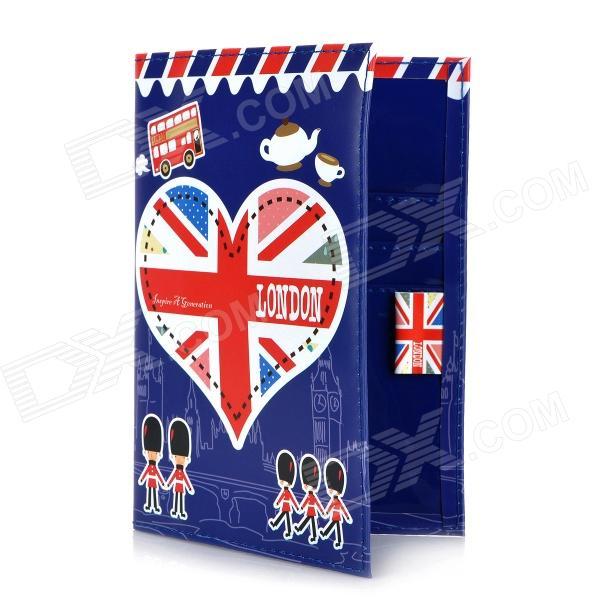I Love London Pattern PU Leather Passport Holder