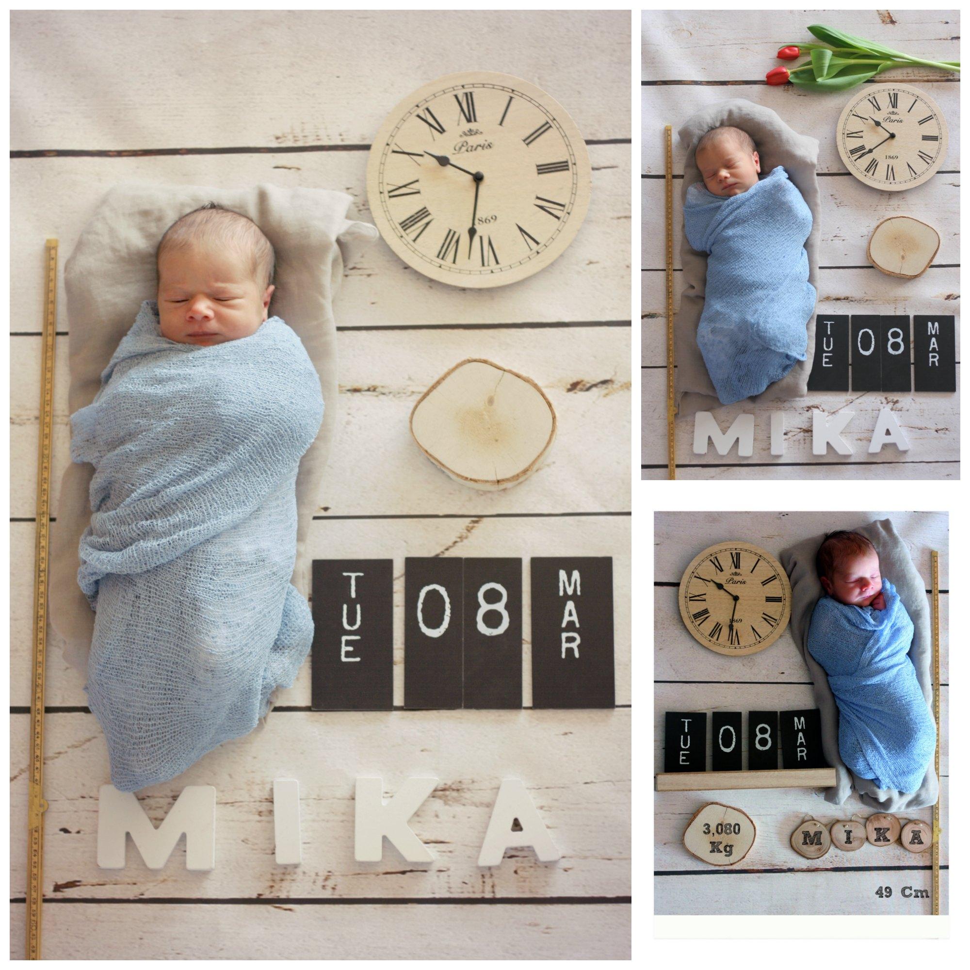 geboortekaart Collage