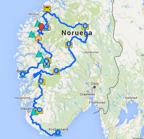 camper road trip norway with kids
