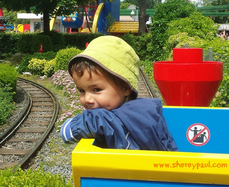 Legoland with a toddler: Duplo express