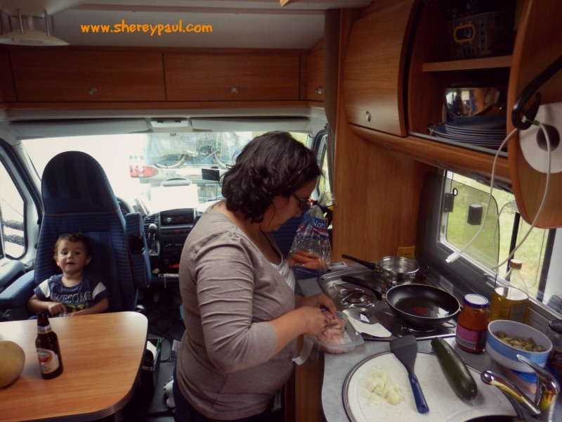Our rv had all things needed for a holiday: from cookware to outdoor table and chairs