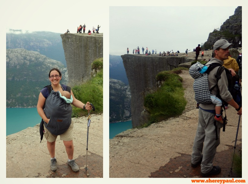 Hike to Preikestolen with baby and toddler