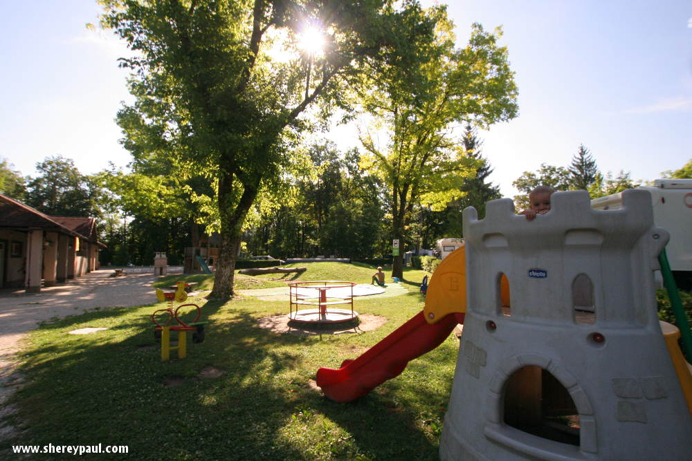Slovenia with kids: playground at Ljubljana Resort camping