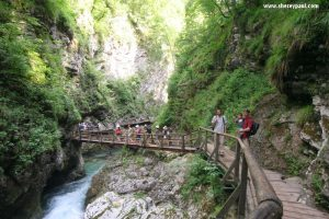 Slovenia with kids - vintgar gorge