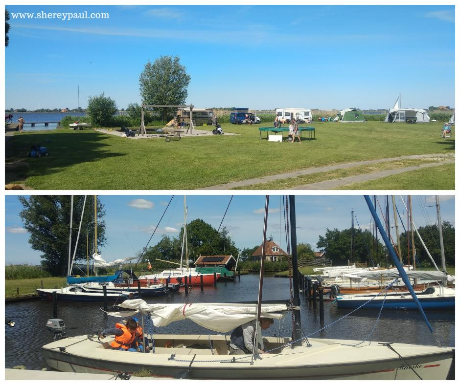 boerencamping Ykema ligt aan water en verhuur zeilbootjes