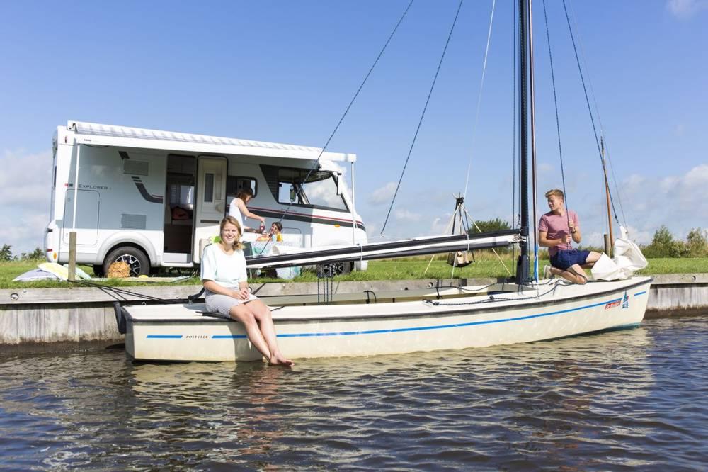 campings aan het water en met privé sanitair in Friesland - de kuilart