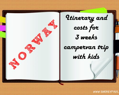 Itinerary and costs for 3 weeks campervan trip in Norway with children