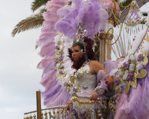 On the road: carnival parade in Puerto de la Cruz
